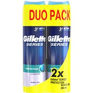 GILLETTE Series Gel Extra Protection 2 × 200 ml  - Gel na holení