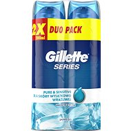 Gel na holení GILLETTE Series Gel Ultra Sensitive 2 × 200 ml - Gel na holení