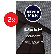 NIVEA Men Deep Comfort After Shave Lotion 2× 100 ml
