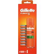 Pánské náhradní hlavice GILLETTE Fusion 8 ks + Gel - Pánské náhradní hlavice