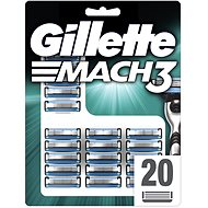 GILLETTE Mach3 20 ks - Pánské náhradní hlavice
