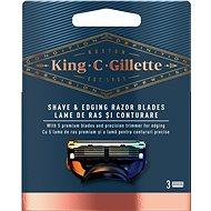 KING C. GILLETTE Shave&Edging 3 ks - Pánské náhradní hlavice