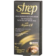 STREP Argan Oil Wax Strips for Face and Bikini Area 20 pcs - Depilatory Strips