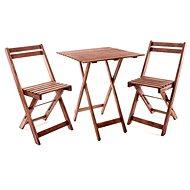 Happy Green Balkonový dřevěný set ACACIA, čtvercový stůl - Zahradní nábytek