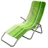Happy Green Plážové lehátko zelený pruh - Plážové lehátko