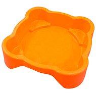 Pískoviště - bazének Čtverec bez krytu oranžové - Pískoviště