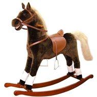 Bino Velký plyšový houpací kůň - hnědý - Houpadlo
