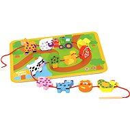 Bino Navlékací zvířátka - Didaktická hračka