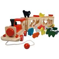 Bino Vlak se zvířátky - Zoo Trenino - Didaktická hračka