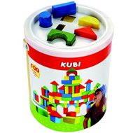 Bino Kostky v kbelíku s vkládacím víkem - Herní set
