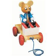 Bino Tahací myš s xylofonem - Tahací hračka