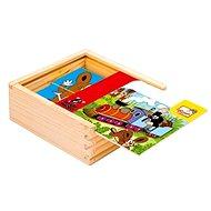 Bino dřevěné kostky - První skládanka s Krtkem - Obrázkové kostky