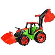 Lena Traktor se lžící a bagrem modro-šedý