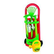 Vozík se zahradním nářadím a konvičkou - Herní set