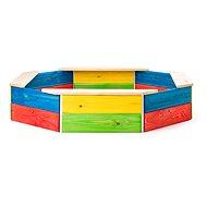 Woody Dřevěné pískoviště barevné - Pískoviště