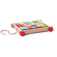 Didaktická hračka Woody Vozík s kostkami malý - Didaktická hračka