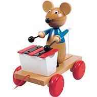 Woody Tahací myš s xylofonem - Tahací hračka