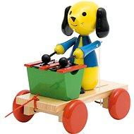 Woody Tahací pes s xylofonem - Tahací hračka