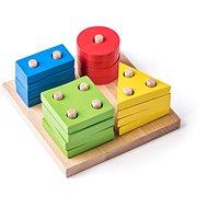 Woody Základní tvary na desce - Didaktická hračka