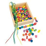 Woody Navlékací perle v krabičce - Didaktická hračka