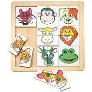Woody Skládanka - Zvířecí hlavičky - Puzzle