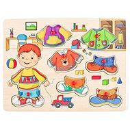 Didaktická hračka Woody Oblékání na desce - Sebastian