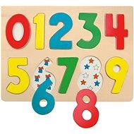 Woody Puzzle na desce - Číslice s beruškami - Puzzle