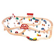 Wooden Train Set with Bridge and Railway Station - Train Set
