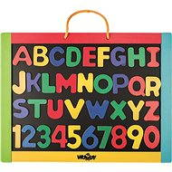 Woody Magnetická tabule s písmeny - Tabule