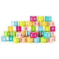 Woody Kostky s písmeny a čísly - Herní set