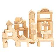 Dřevěné kostky Woody Kostky přírodní - Dřevěné kostky