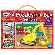 GALT 4 Puzzle v krabici - dopravní prostředky - Puzzle