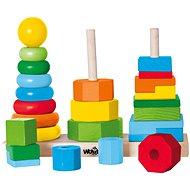 Woody Set skládacích věží - Didaktická hračka
