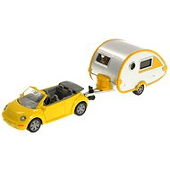 Siku Blister - VW Beetle with caravan - Metal Model