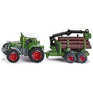Siku Blister – Traktor s přívěsem na kulatinu - Kovový model