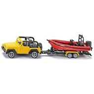 Siku Blister – Jeep s člunem - Kovový model