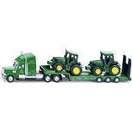 Siku Farmer - Tahač s podvalníkem a traktory John Deere - Kovový model