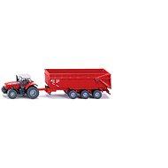 Siku Farmer - Traktor Massey Ferguson s přívěsem - Kovový model