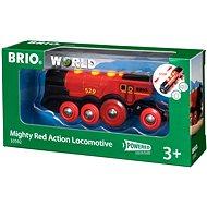 Brio World 33592 Mohutná červená akční lokomotiva - Vláček