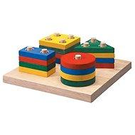 Didaktická hračka Destička s geometrickými tvary