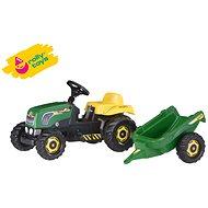 Šlapací traktor Rolly Kid s vlečkou - zelený - Šlapací traktor