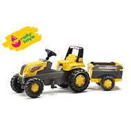 Rolly Junior pedal tractor with a Farm trailer - yellow - Pedal Tractor