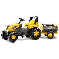 Šlapací traktor Rolly Junior s Farm vlečkou - žlutý - Šlapací traktor