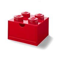 Úložný box LEGO stolní box 4 se zásuvkou červený