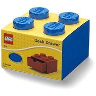 Úložný box LEGO stolní box 4 se zásuvkou modrý