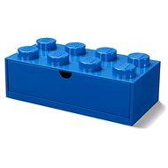 LEGO stolní box 8 se zásuvkou modrý - Úložný box