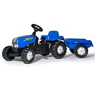 Rolly Toys Šlapací traktor Rolly Kid s vlečkou modrý - Šlapací traktor