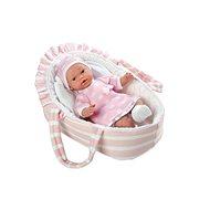 Teddies Panenka/miminko růžové měkké tělo - Panenka