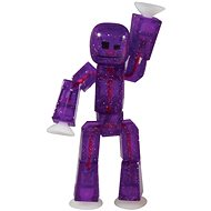 Epline Stikbot figurka – fialová s třpytkami - Figurka