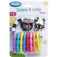Playgro – Zebra s kroužky nová - Interaktivní hračka